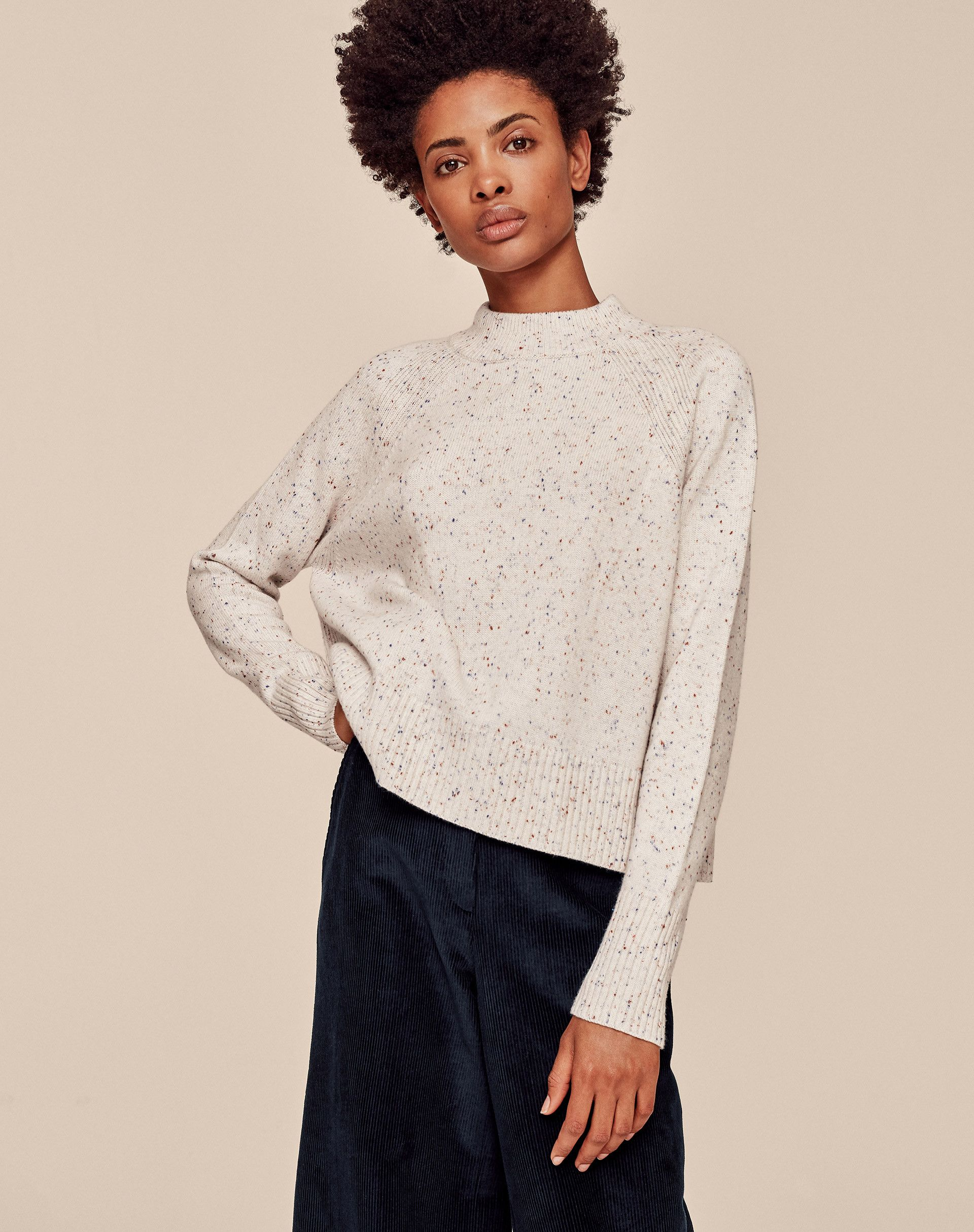 Speckled Cashmere Jumper