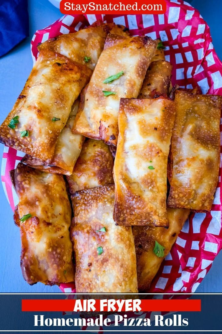 Air Fryer Pizza Rolls is a quick and easy homemade recipe