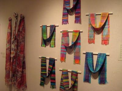 Love The Way These Are Displayed Created By Risa Nourishing My Creative Soul Scarf Display Fabric Craft