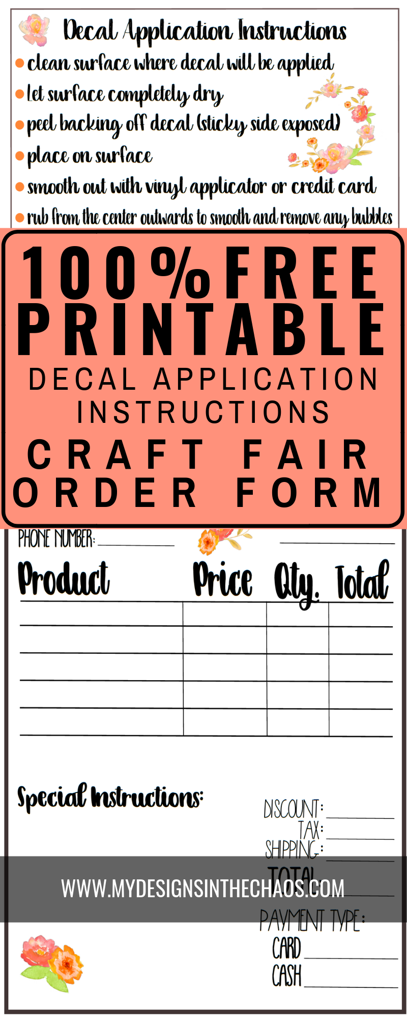 Decal application instructions printable my designs in the chaos check out 5 simple tips to be super successful when selling your vinyl decals from your