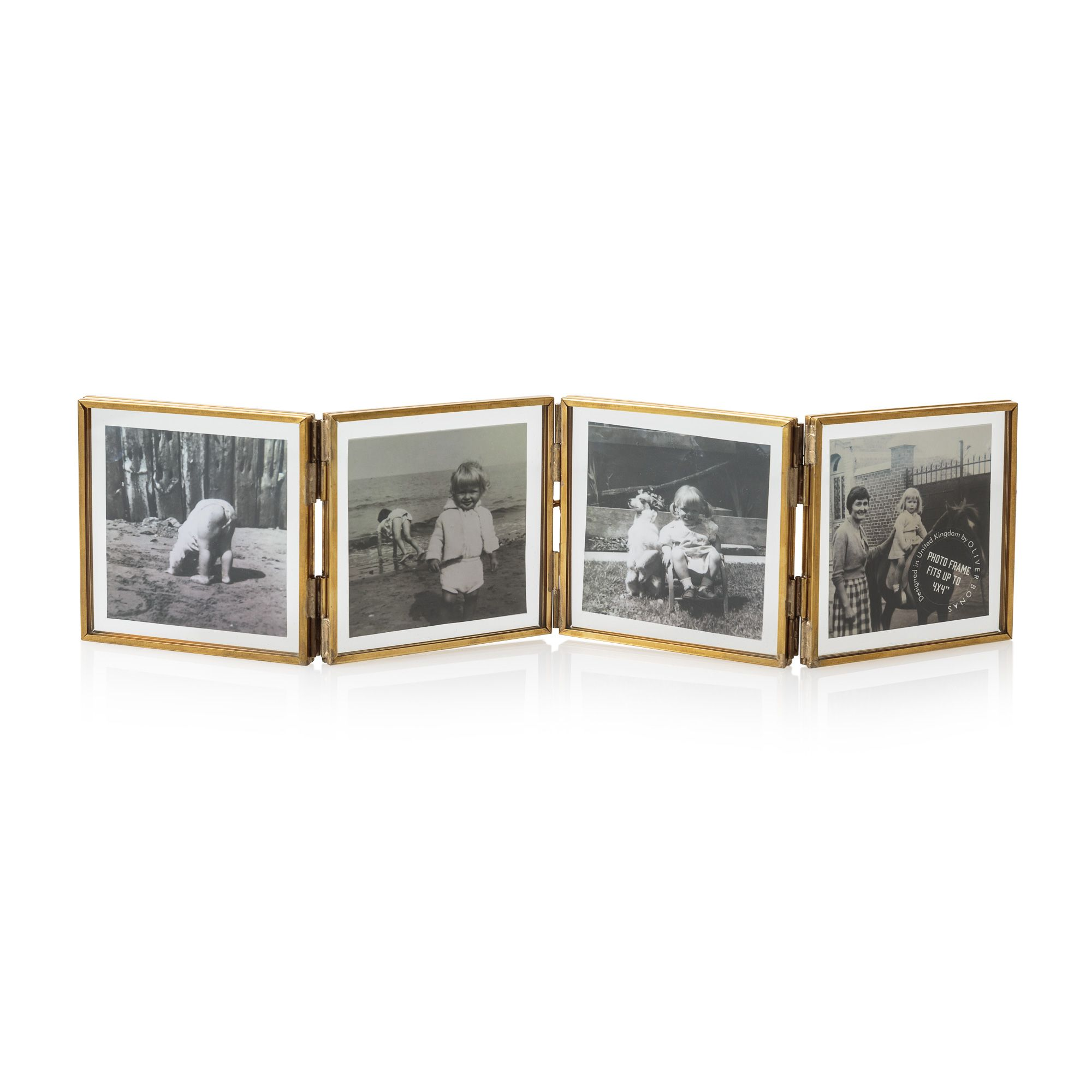 buy the 4 x 4 gold glass mini square multi frame at oliver bonas