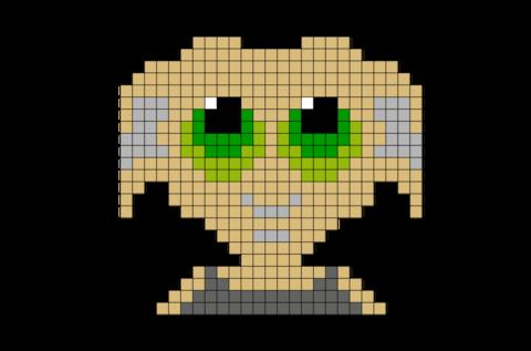Harry Potter Dobby Pixel Art Harry Potter Cross Stitch