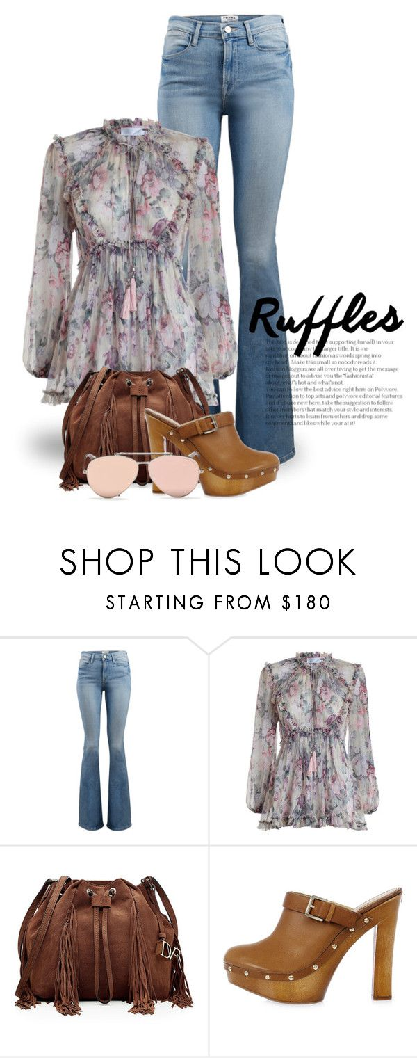"""""""Add Some Flair: Ruffled Tops 3526"""" by boxthoughts ❤ liked on Polyvore featuring Frame, Zimmermann, Diane Von Furstenberg, Dsquared2, Alexander McQueen and ruffledtops"""