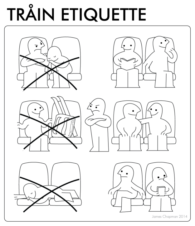 Train Funny IKEA Instructions Showing the Dos and Don'ts of Handling Situations in Real Life