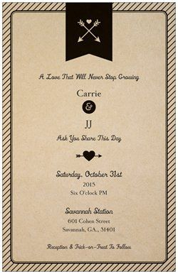 Did you know Vistaprint has Vertical Flat Wedding Invitations? Check mine out! Create anything from Business cards to birthday party invites at Vistaprint.com. Get incredible sales, 3-day shipping and more!