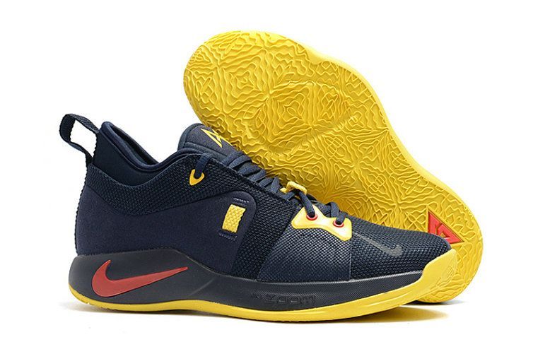 4e041972a574 Spring Summer 2018 Original Basketball Sneakers Nike PG 2 ID Paul George  Thunder dark blue-yellow