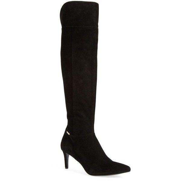 Womens Boots Calvin Klein Clancey Black Kid Suede