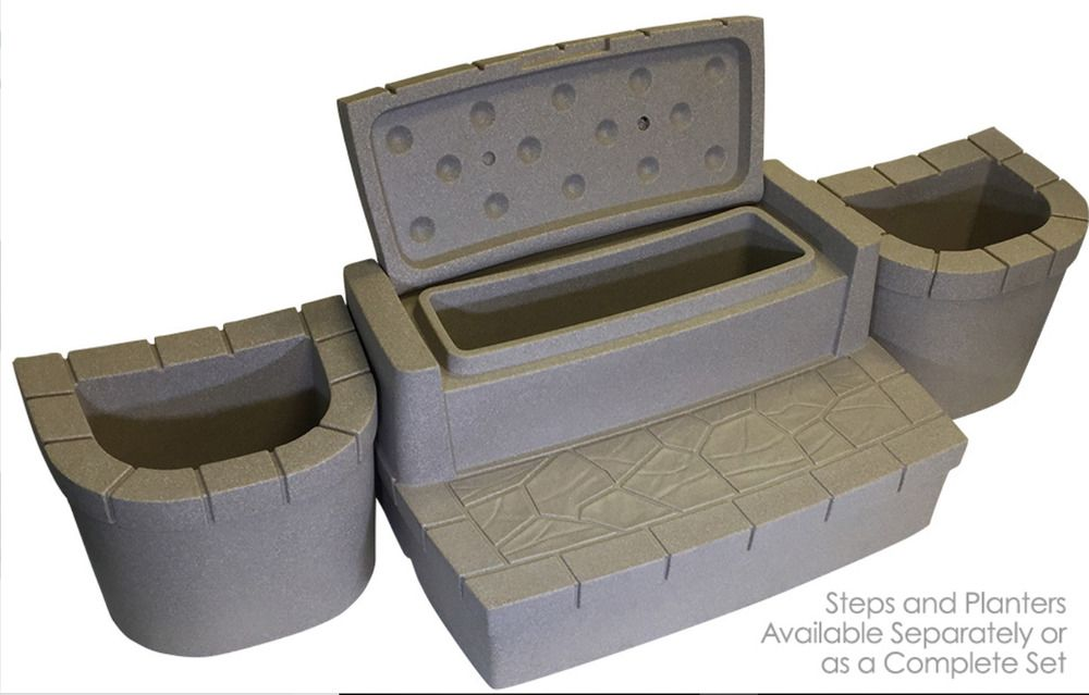 Hot Tub Step Planter Chemical Storage Stairs Riser Spa Outdoor Pool Accessories Spa Hottub Massage Hot Tub Steps Stair Storage Pool Accessories