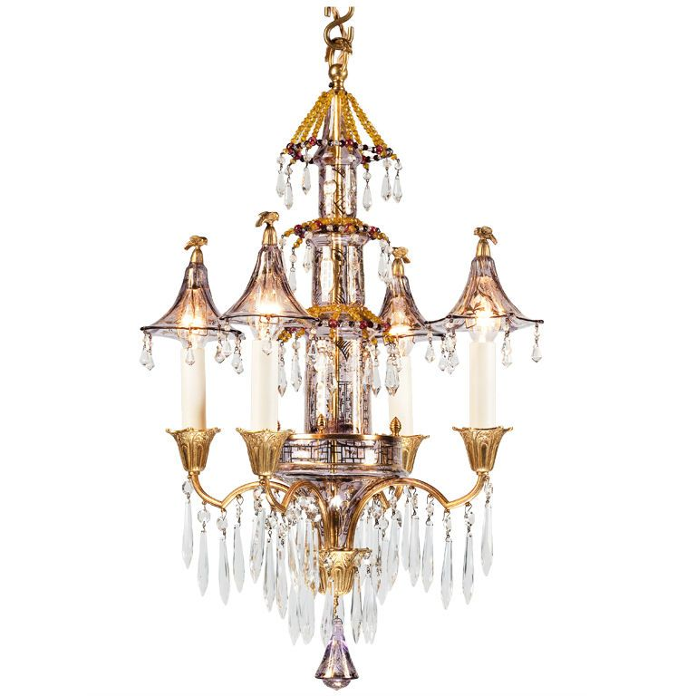 A late 19th century glass chinoiserie chandelier chinoiserie a late 19th century glass chinoiserie chandelier aloadofball Choice Image