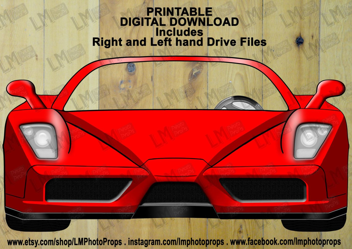 381d664ff75d4 Red Ferrari Style Photo Booth Prop - Car Prop, Cars, Red Car ...