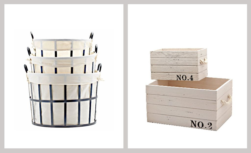 These crates would be perfect to hold flip-flops or basic folded t-shirts in our closet. #Organization