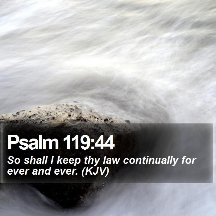 Psalm 119:44 So shall I keep thy law continually for ever and ever ...