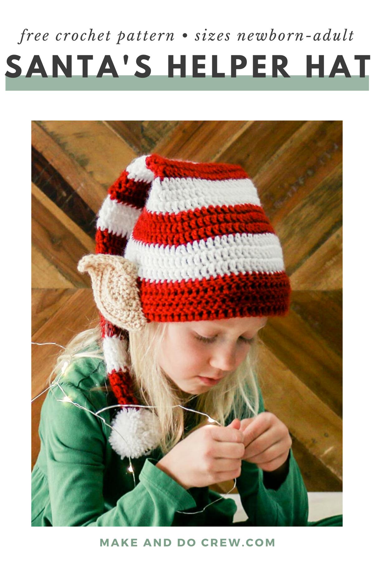Crocheted Elf Beanie with ears