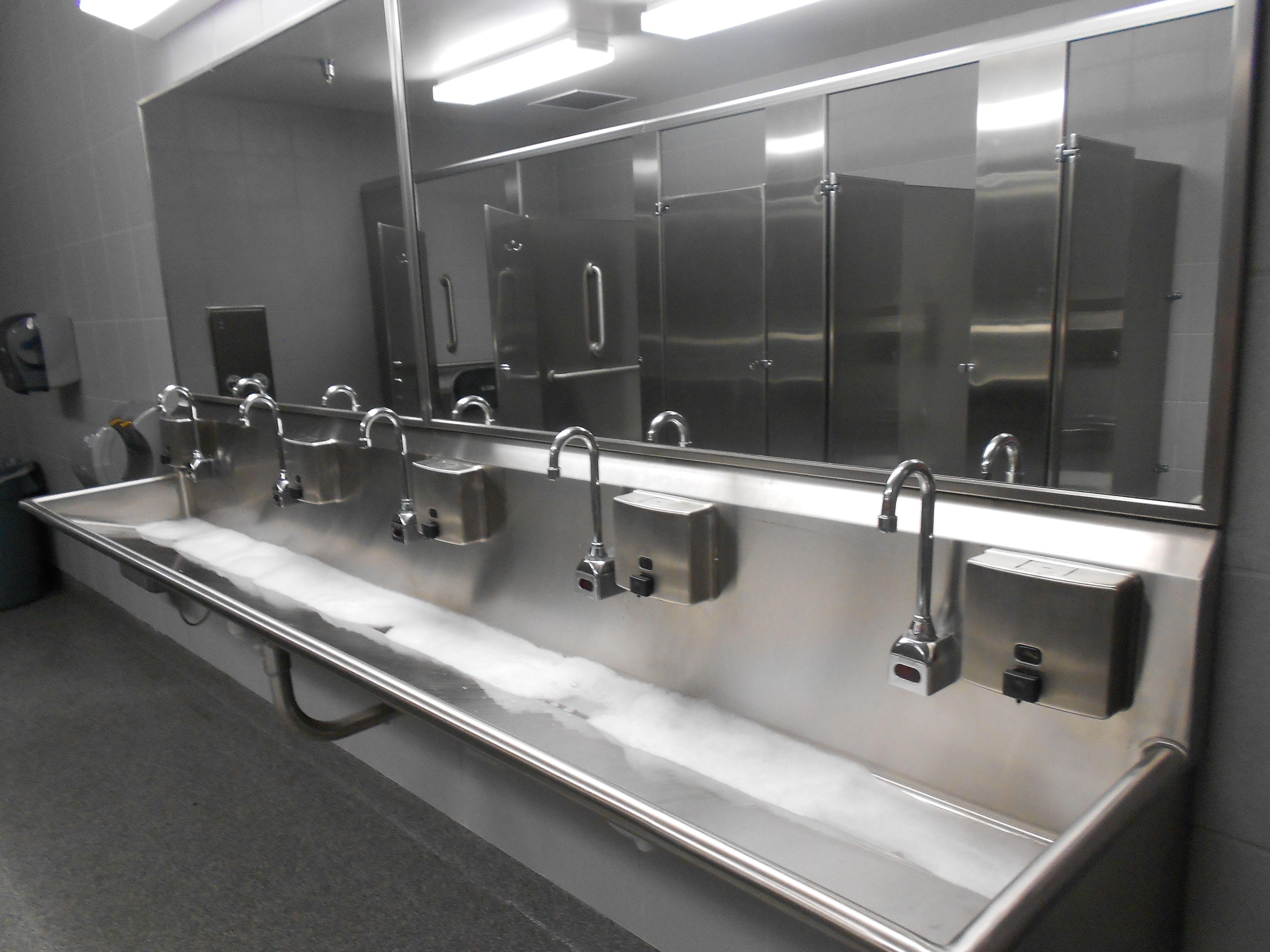 Trough Sink At Costco Restroom Trough Sink Restroom Sink