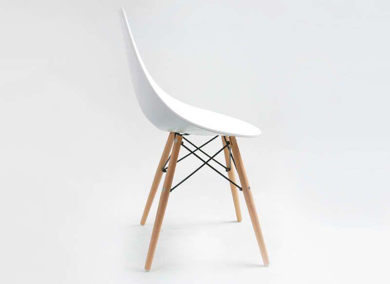 Häufig étonnant chaise design blanche pied bois | Décoration française  XL84