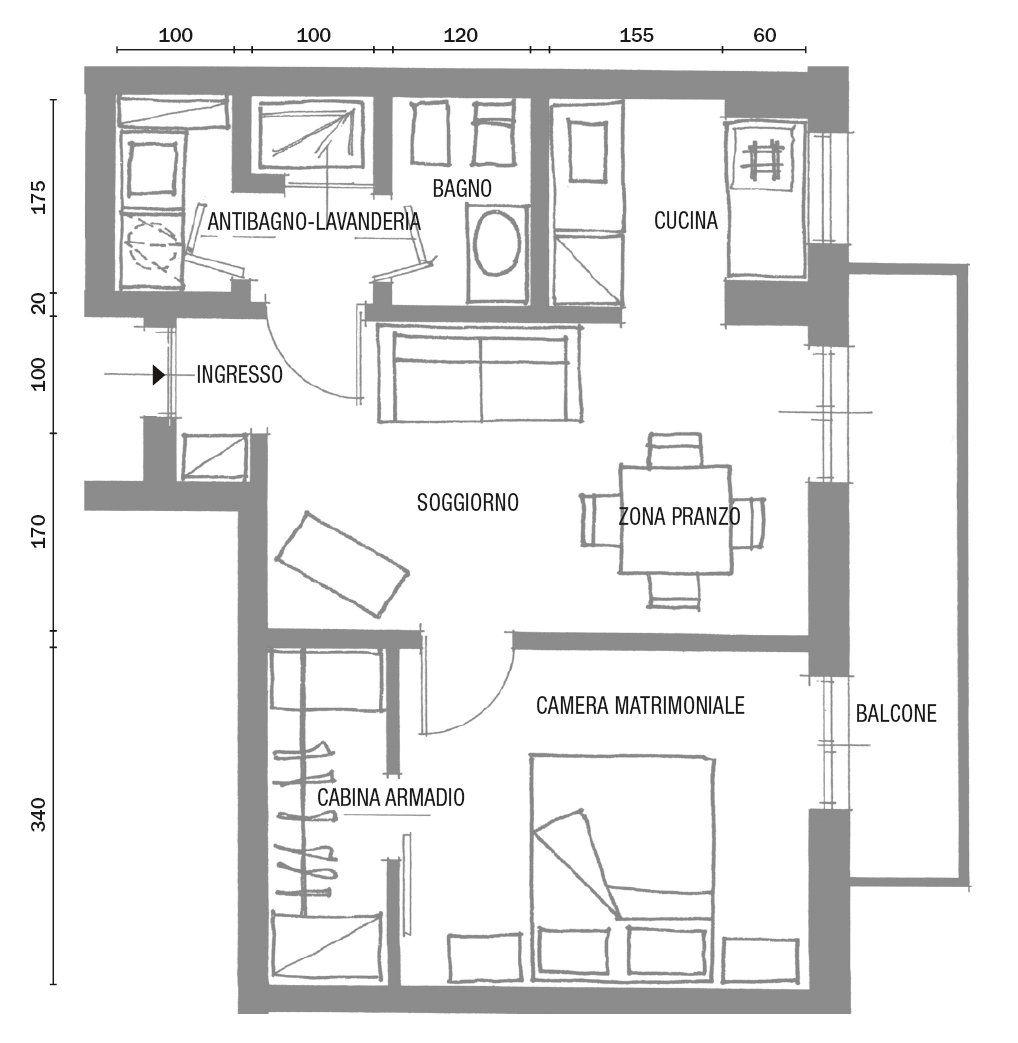 Casa 80 Mq Pianta bilocale di 40 mq: casa mini, comfort maxi | progetto di