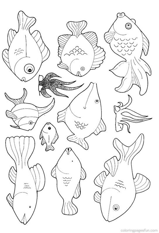 Fish Coloring Pages 13 | Color pages | Pinterest | Fish, Sunday ...