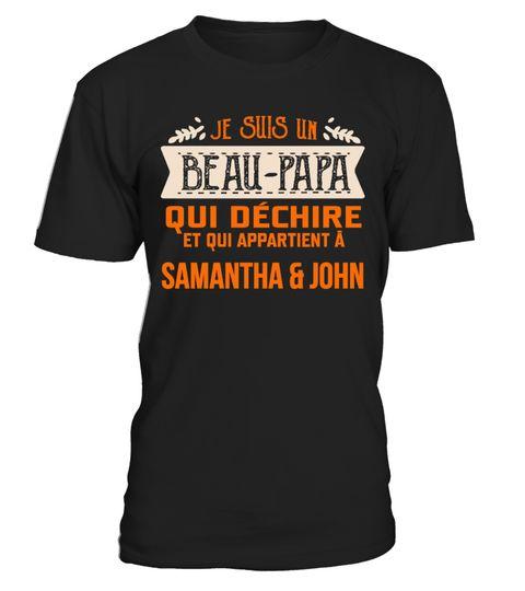 T Shirt Beau Pere Papa Je Suis Un Beau Papa Qui Déchire