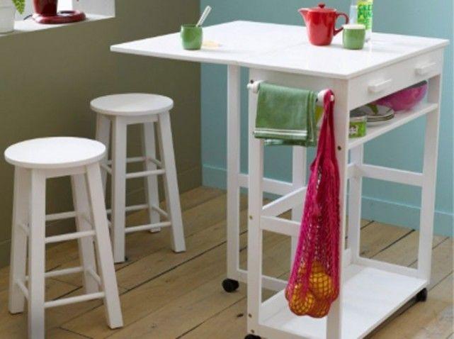 Studio Nos Idées De Rangements Bien Pensés Desserte - Table bar pour petite cuisine pour idees de deco de cuisine