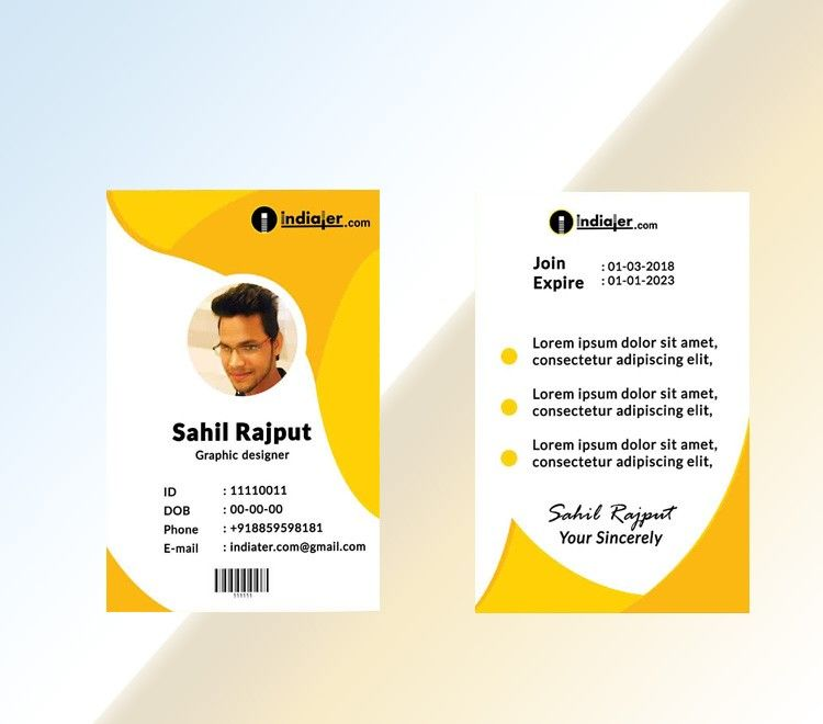 Most Creative Employee Id Card Google Search Employee Id Card Card Design Wedding Acceptance Card