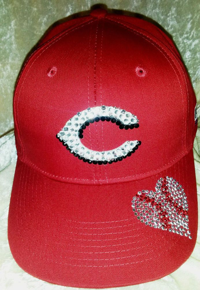 reputable site d4abf 89b81 ... czech cincinnati reds womens rhinestone bling mlb love baseball cap hat  new mlblicensed e5070 61d09