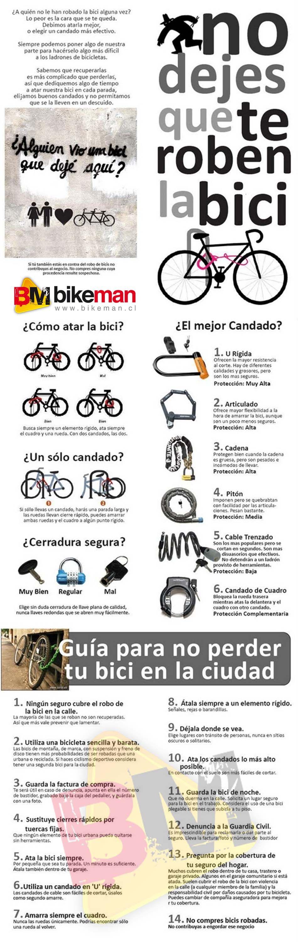 Menu para ciclistas de montana