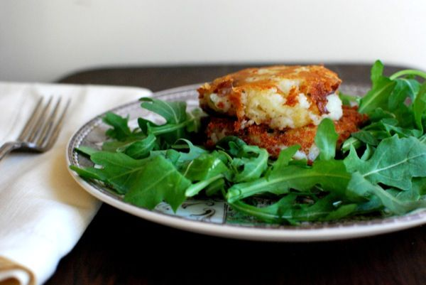 herb stuffed potato cakes- from the yellow house