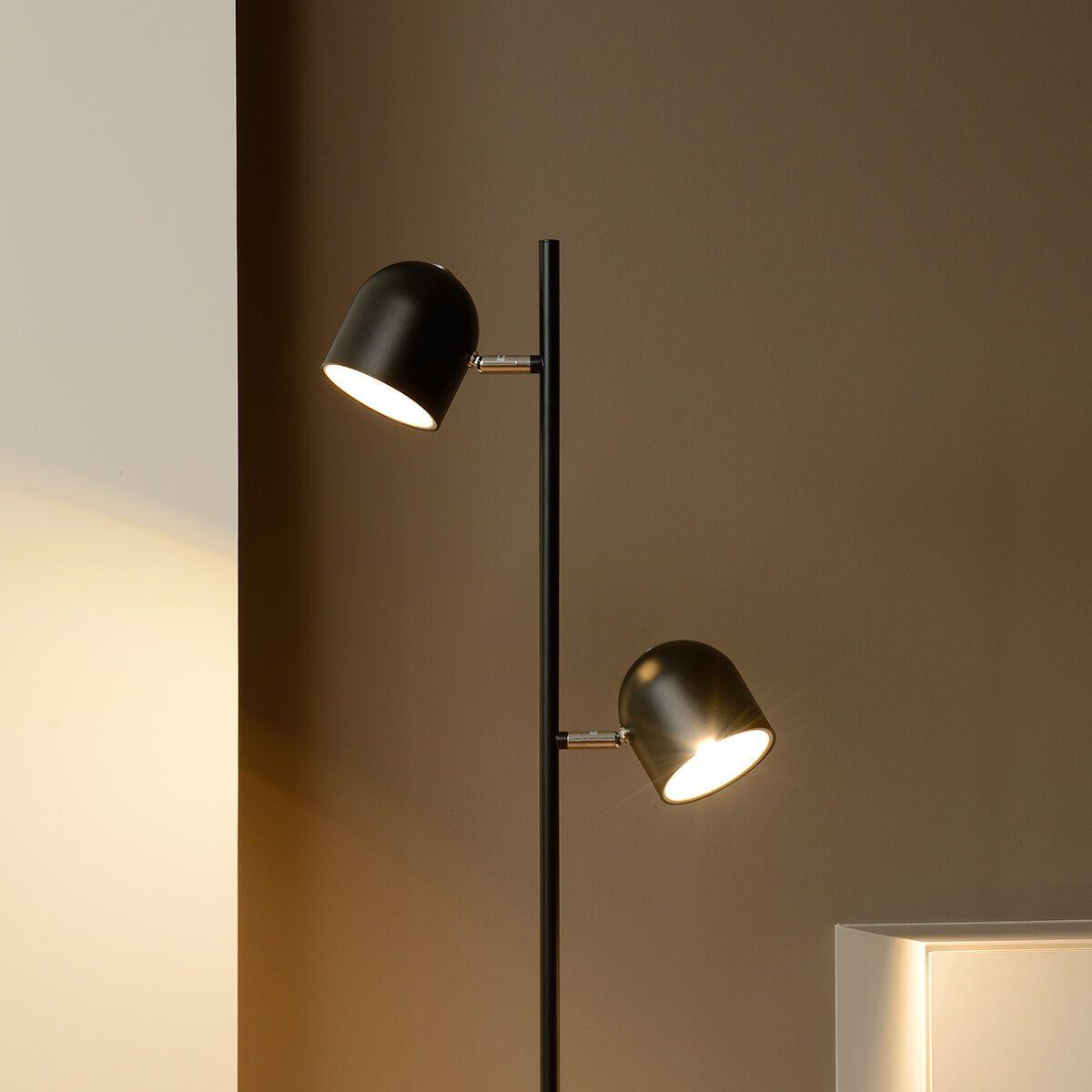 Dimmbare LED-Stehleuchte Skanska in Schwarz Jetzt bestellen unter ...