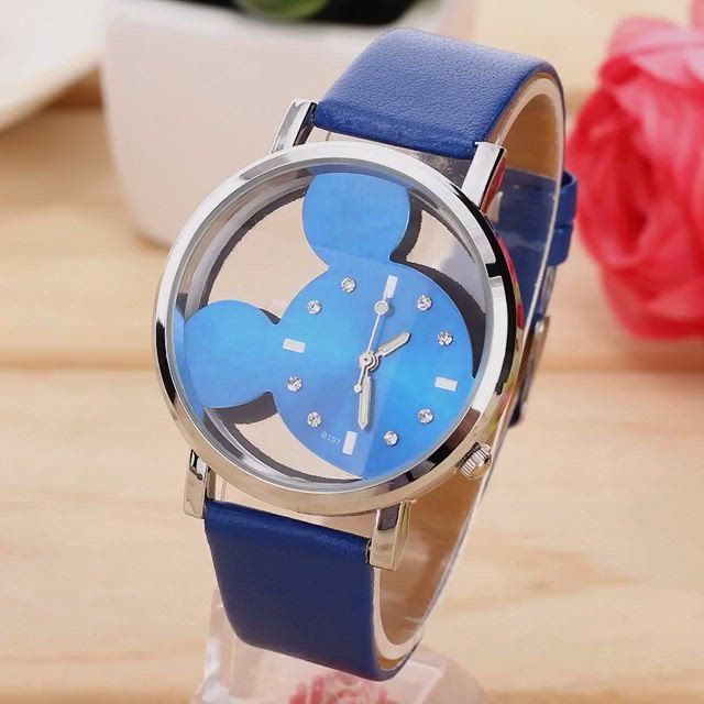 , Watch Men Leather Strap Quartz Transparent Girl Mickey Women Hollow Feminino Cartoon, My cartoon Blog, My cartoon Blog