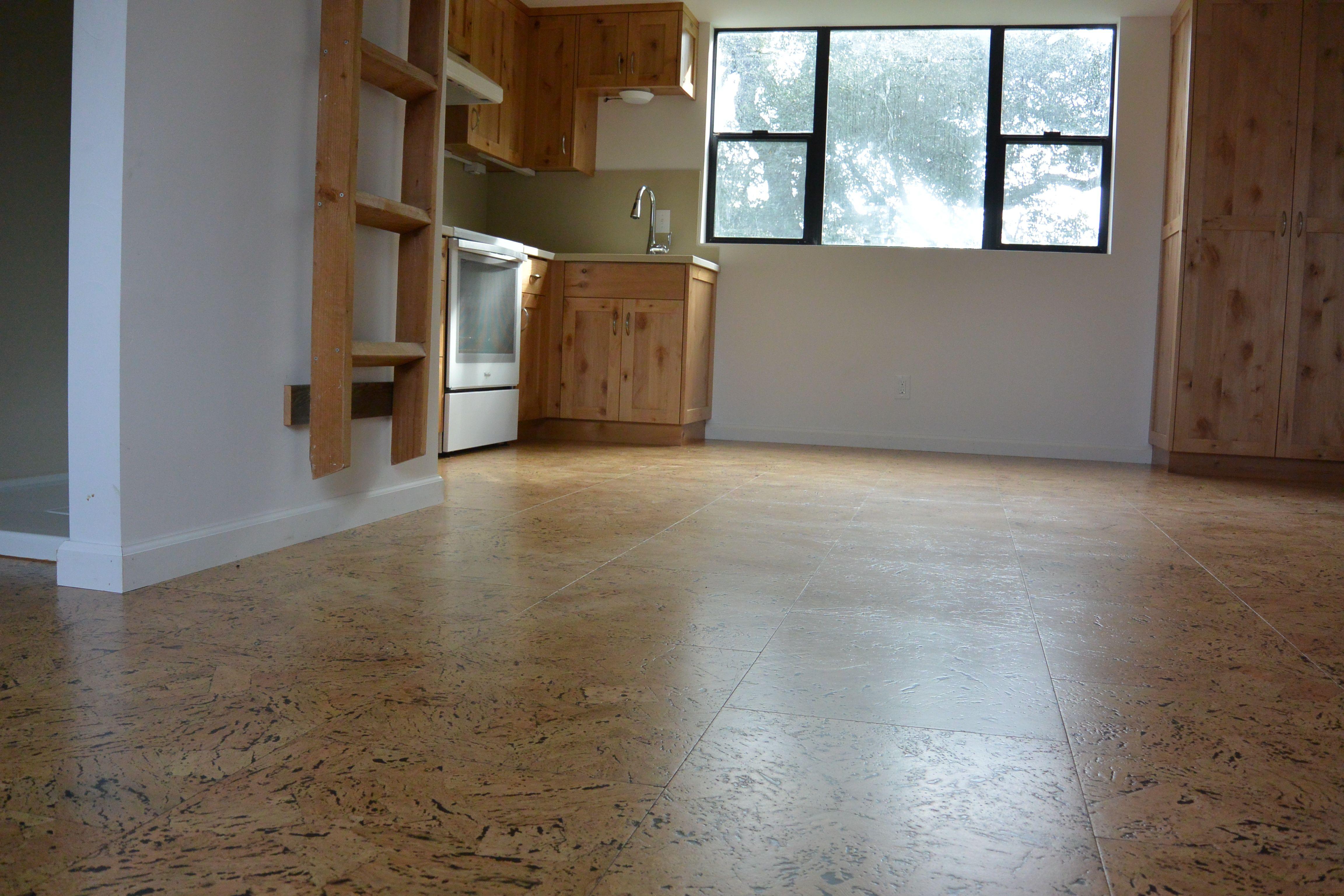 Beautiful Cork Flooring In A Beautiful Open Loft Style Studio