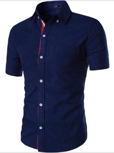 Men Shirt Designer Brand 2017 Male Short Sleeve Shirts Casual Slim ...