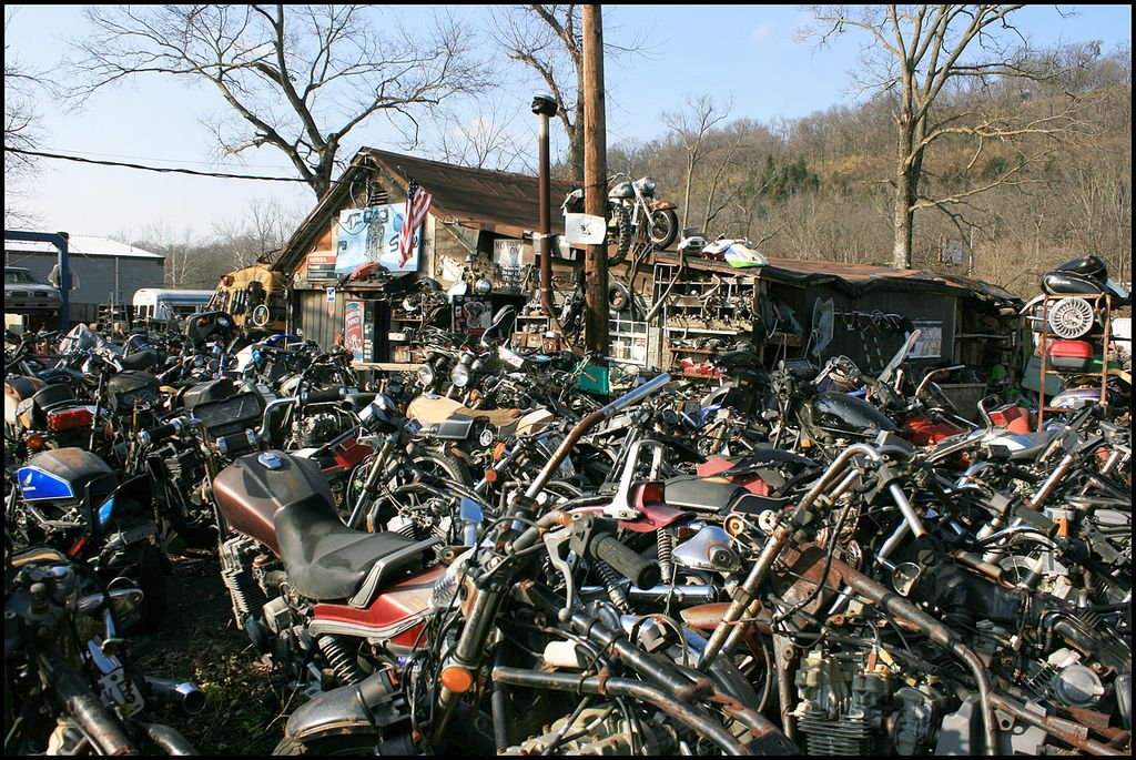 Motor Bike Scrapyard Motorcycle