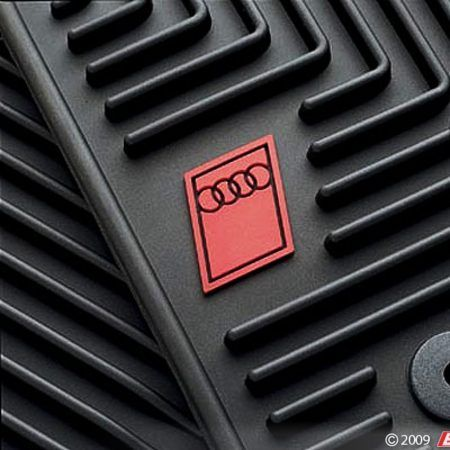 All Weather Rubber Floor Mats Set Of Four Black With Audi