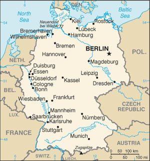 U S Relations With Germany Mannheim Landkarte Deutschland
