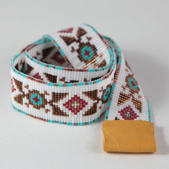 3cc28889d1f Gallup Beaded Cowboy Hatband Bead Loom Cowgirl Artisanal Jewelry Indian  Style Southwestern Rodeo Horses Hat Band Native American Inspired