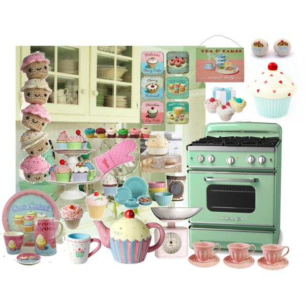 marvelous Cupcake Kitchen Decor Sets #3: 17 Best images about Soon to be cupcake kitchen on Pinterest | Green  cupcakes, Bakeries and Cupcake liners