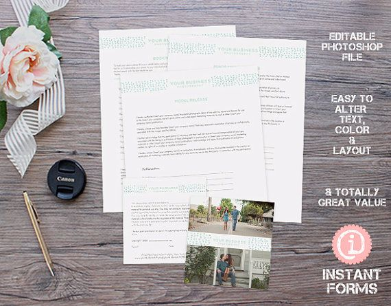 Photographers Release Forms - IF106 - INSTANT DOWNLOAD Youu0027ll - release forms