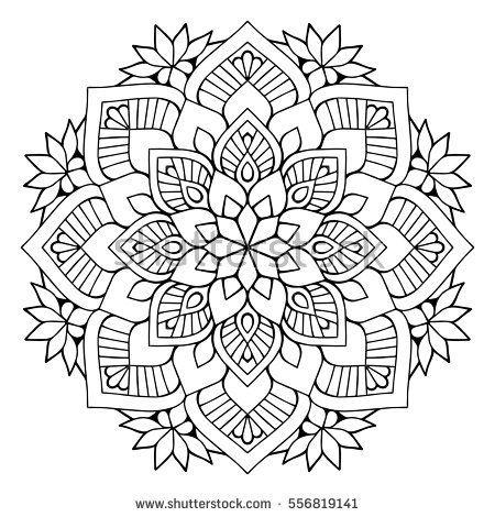Flower Mandalas. Vintage decorative elements. Oriental