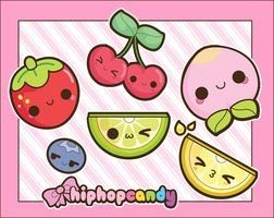 Kawaii Summer Fruits by ~A-Little-Kitty on deviantART