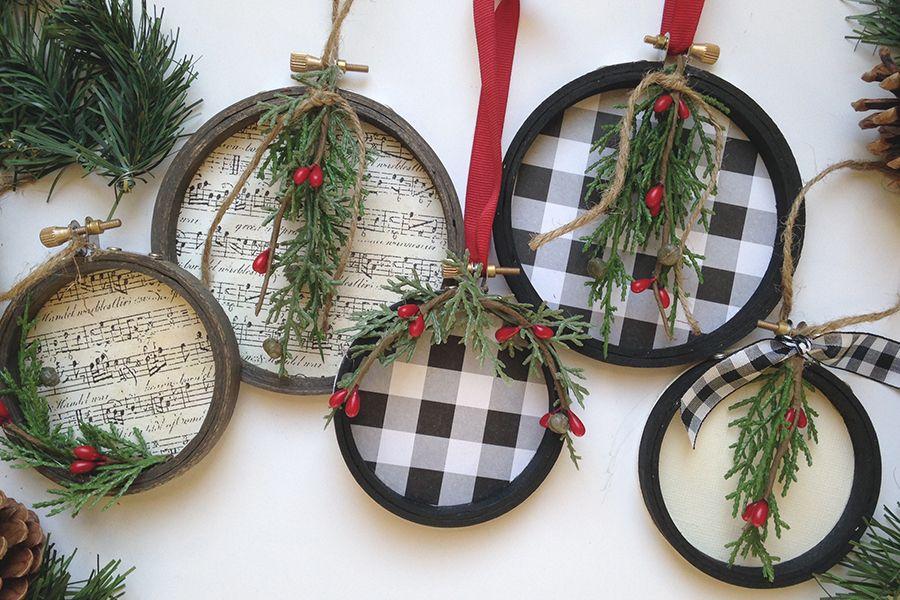 Diy Embroidery Hoop Christmas Ornaments Bricolage Noel Decoration Noel Et Diy Broderie