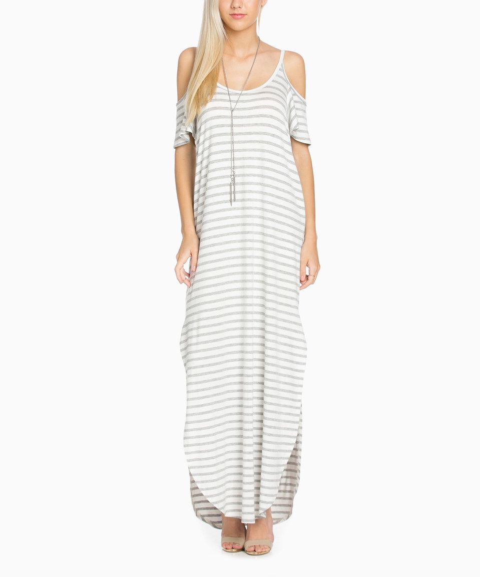 Another great find on zulily my space ivory u heather gray stripe