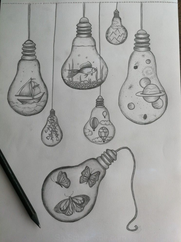 Bombilla De Luz De Dibujos Bombillas Art Drawings Simple Light Bulb Drawing Cool Art Drawings