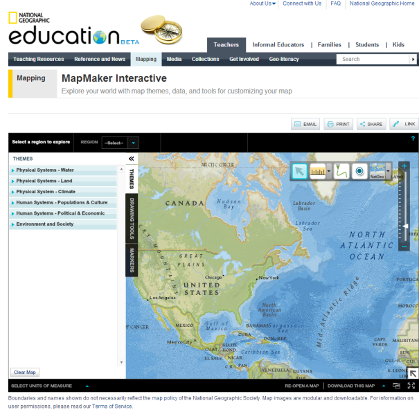 Mapmaker interactive customize your map world tools and geography mapmaker interactive is powered by national geographic the worlds famous photographic geography website gumiabroncs Gallery