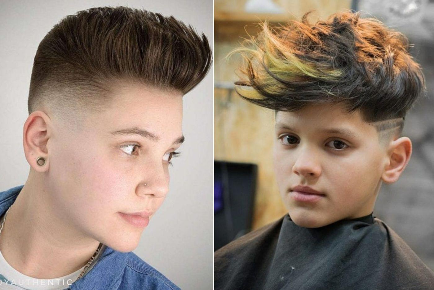Peppige Frisuren Fur Jungs Ab 12 Mit Pompadour Jungs Frisuren Kinderfrisuren Niedliche Frisuren