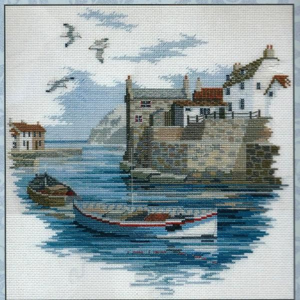 Derwentwater Designs Cross Stitch Kit Secluded Port, Fishing Boats