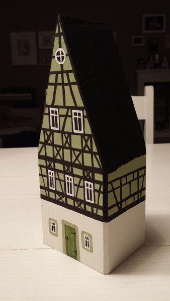 Photo of Deko-Objekte – Holzhaus Fachwerkhaus Shabby Chic Deko Vintage  – ein Designerst…