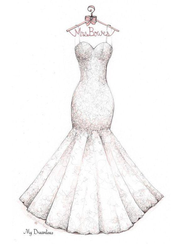 Image result for marriage dress sketches | Inspiração | Pinterest ...