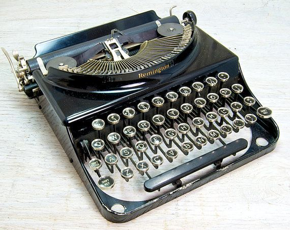 Working Vintage Remington Junior Portable by anodyneandink on Etsy, $200.00