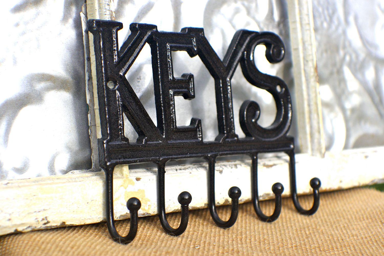 Key Rack/ Wall Decor Key Hook Holder/ Car keys Hook/ Rubbed Oil Bronze