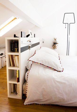 Tables De Chevet 30 Idees Deco Blog Deco Bed In Middle Of Room Mattress Design Bedroom Floor Plans